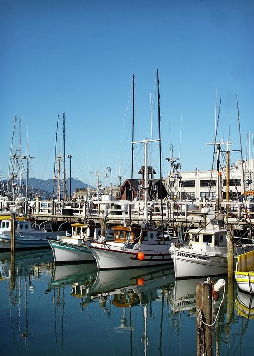 Fisherman's Wharf Greeting Card featuring the photograph Fisherman's Wharf by Julie Palencia