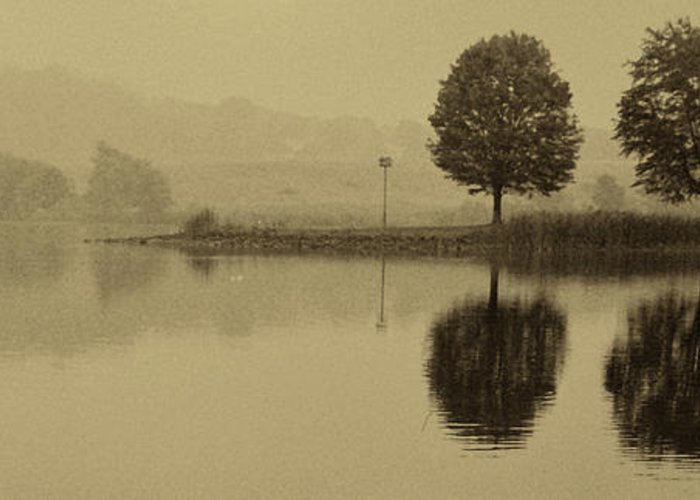 Fishing Greeting Card featuring the photograph Fishing At Marsh Creek State Park Pa. by Jack Paolini