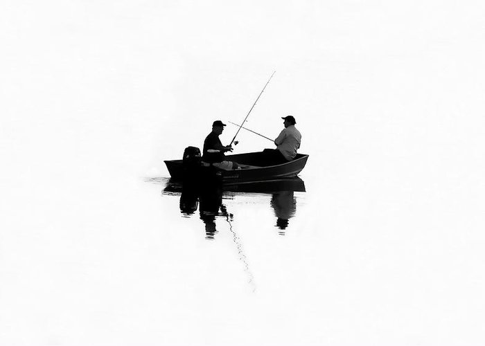 Fine Art Photography Greeting Card featuring the photograph Fishing Buddies by David Lee Thompson