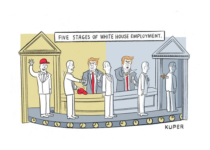 Five stages of white house employment greeting card for sale by five stages of white house employment greeting card featuring the drawing five stages of white house m4hsunfo