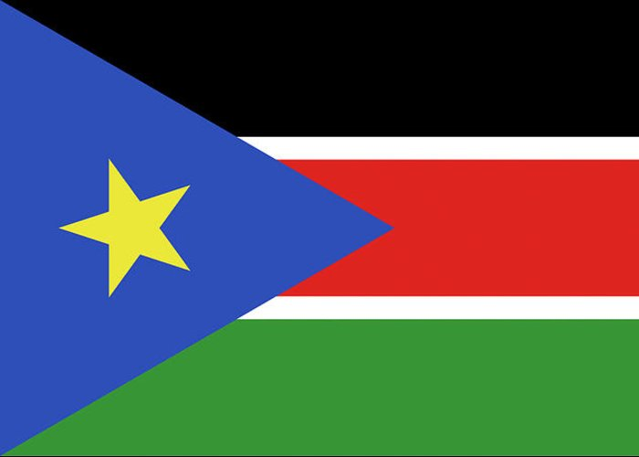 Africa Greeting Card featuring the digital art Flag Of South Sudan by Roy Pedersen