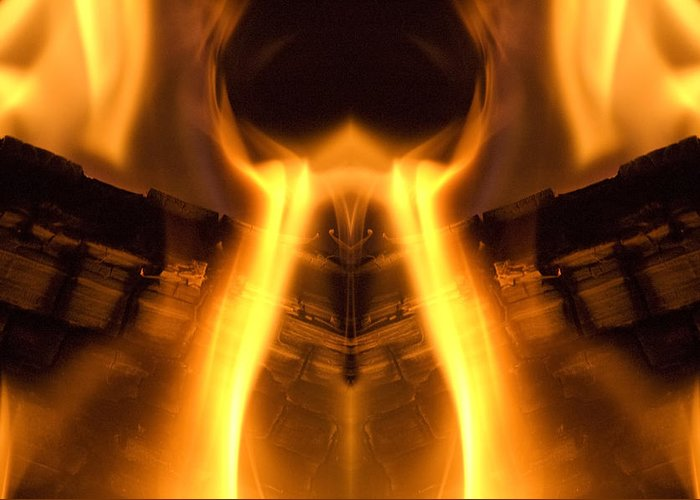 Flames Greeting Card featuring the photograph Flame Forms by Ross Powell