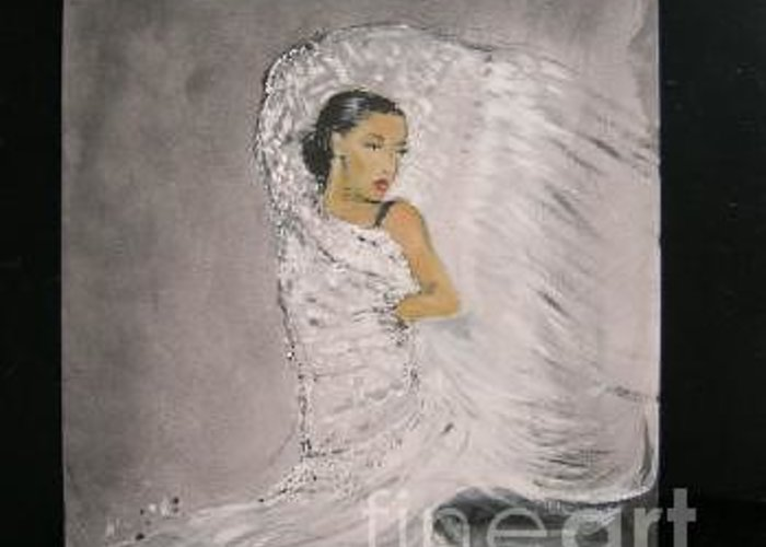Spain Greeting Card featuring the painting Flamenco by Lizzy Forrester