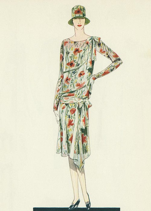 1920s Fashion Greeting Cards