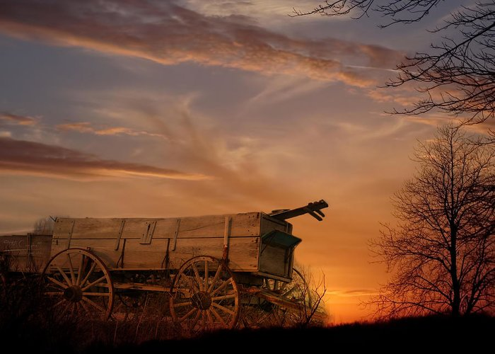 Wagon Greeting Card featuring the photograph Flashback by Theresa Campbell