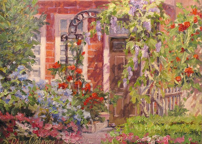 Impressionism Greeting Card featuring the painting Flavor of England by L Diane Johnson
