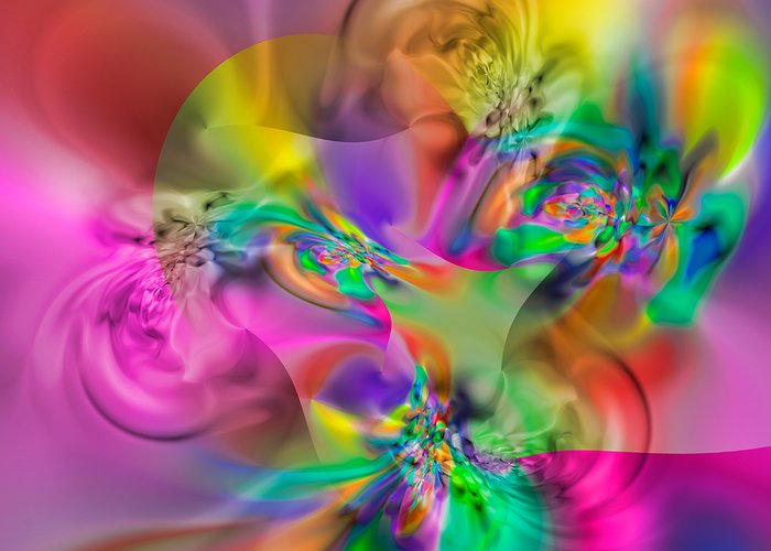 Abstract Greeting Card featuring the digital art Flexibility 34eaa by Rolf Bertram