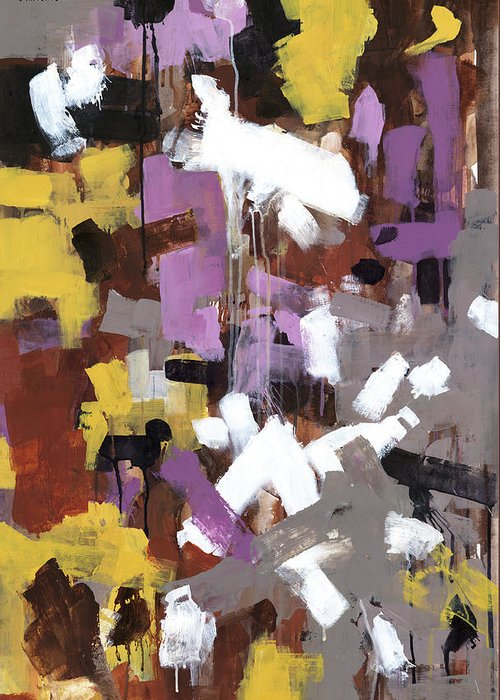 Abstract Greeting Card featuring the painting Flight by Douglas Simonson