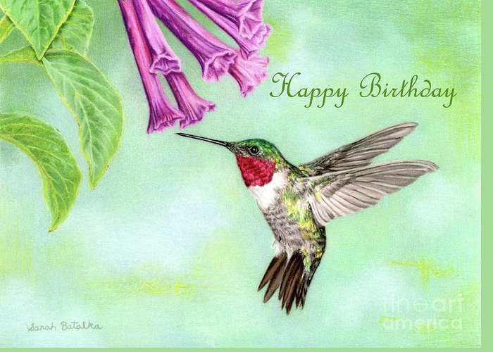 Flight Of Fancy Happy Birthday Cards Greeting Card For Sale By