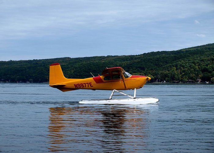 Hammondsport Greeting Card featuring the photograph Float Plane Two by Joshua House
