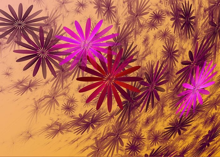 Fantasy Greeting Card featuring the digital art Floating Floral - 005 by David Lane