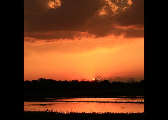 West Greeting Card featuring the photograph Sunset After A Spring Storm by Chris Berry