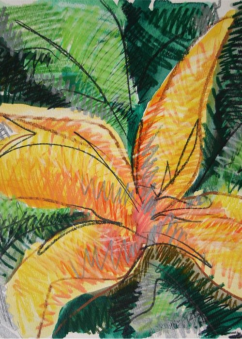 Lily Greeting Card featuring the painting Flora Exotica 2 by Dodd Holsapple