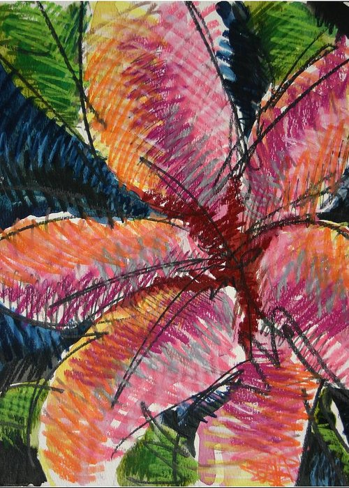 Lily Greeting Card featuring the painting Flora Exotica 3 by Dodd Holsapple