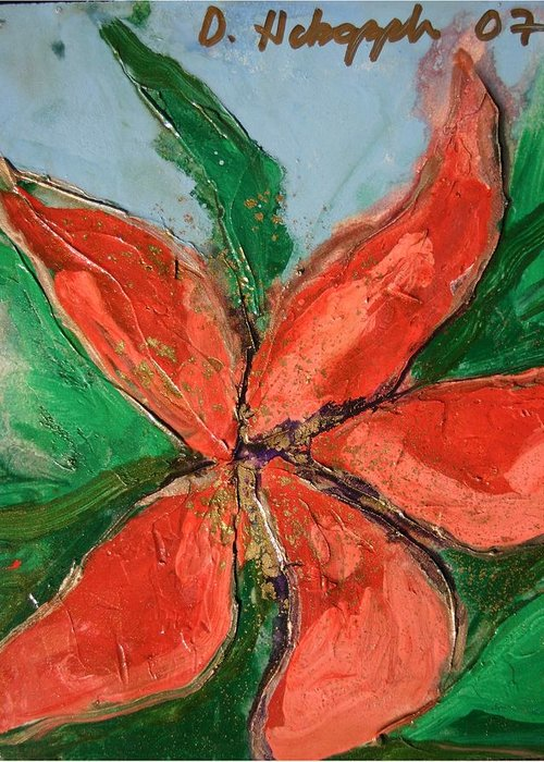Flower Greeting Card featuring the painting Flora Exotica A by Dodd Holsapple