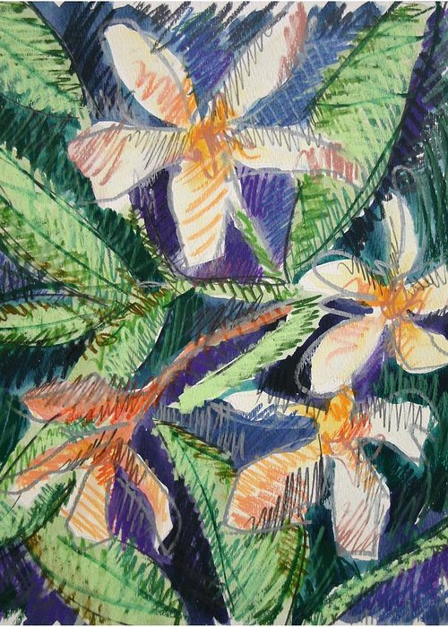 Flower Greeting Card featuring the painting Flora Exotica by Dodd Holsapple