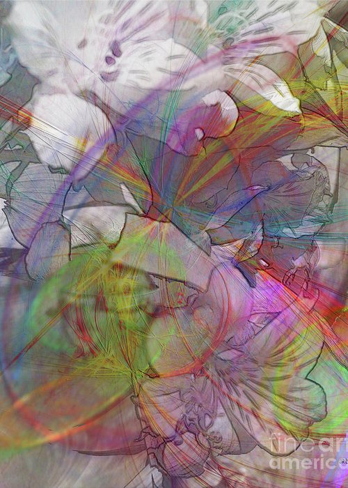 Floral Fantasy Greeting Card featuring the digital art Floral Fantasy by John Beck