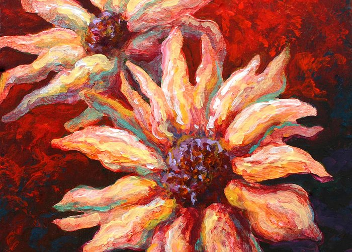 Floral Greeting Card featuring the painting Floral Mini by Marion Rose