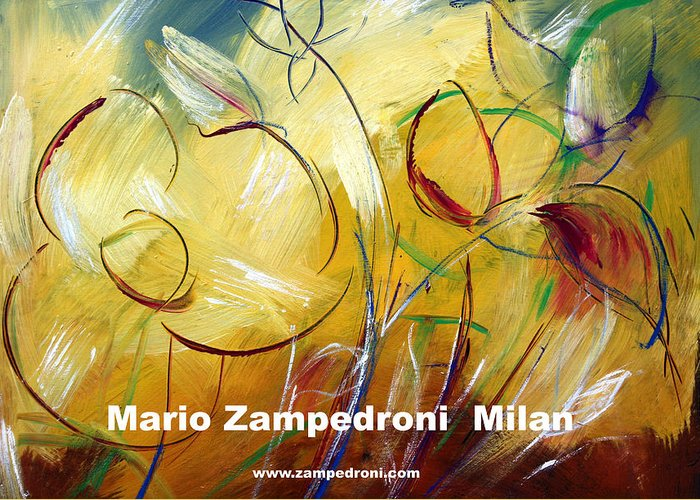 Artist Print Greeting Card featuring the print Floral Poster by Mario Zampedroni