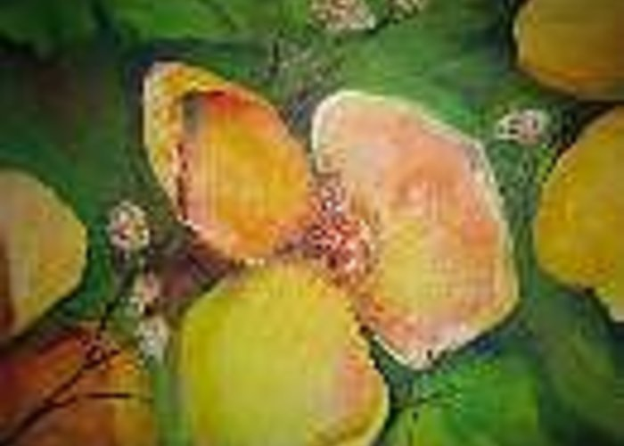 Flowers Greeting Card featuring the painting Floral Untilted by Impressionist FineArtist Tucker Demps Collection