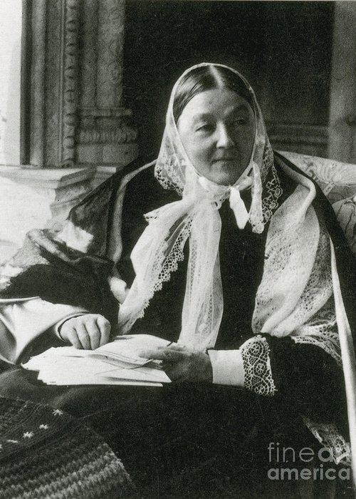 History Greeting Card featuring the photograph Florence Nightingale, English Nurse by Science Source