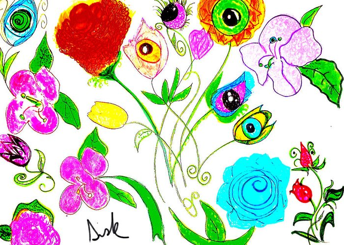 Spring Flowers Greeting Card featuring the painting Flores De Primavera by Vanessa Sisk