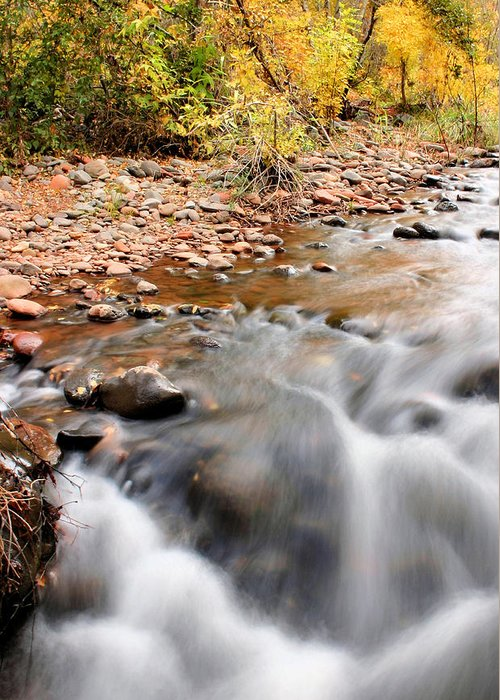 Sedona Greeting Card featuring the photograph Flow In Sedona by Kristin Elmquist