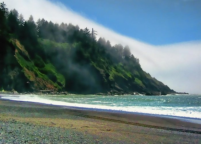 Fog Greeting Card featuring the photograph Flow by Kathy Bassett