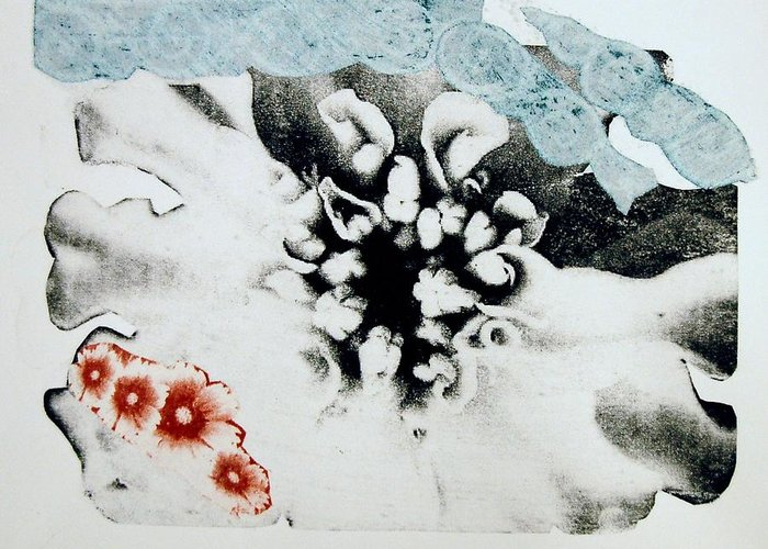 Flower Greeting Card featuring the print Flower by DeLa Hayes Coward