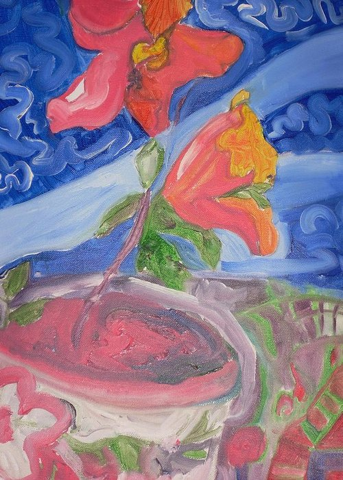Greeting Card featuring the painting Flower by Joseph Arico