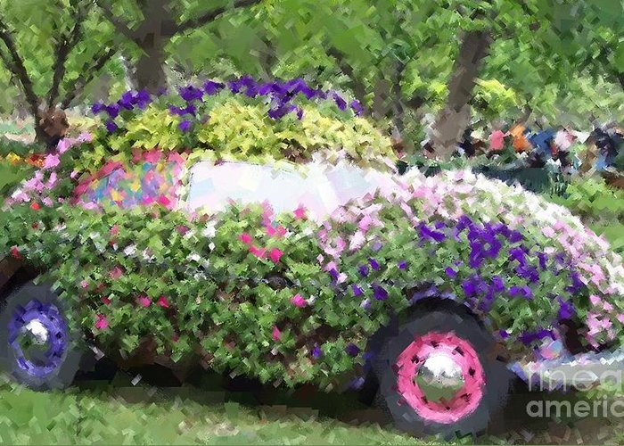 Cars Greeting Card featuring the photograph Flower Power by Debbi Granruth