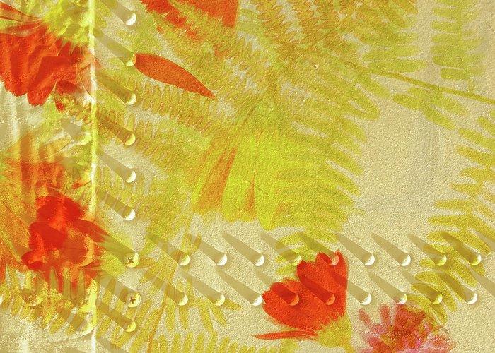 Digital Art Prints Digital Art Greeting Card featuring the digital art Flower Shower II by Bonnie Bruno