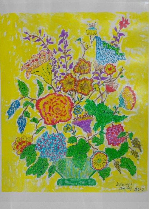 Bouqet Greeting Card featuring the painting Flowers 1 by Dennis Buchy