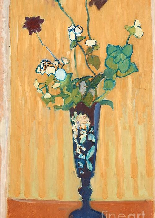 Greeting Card featuring the painting Flowers In A Vase by MotionAge Designs