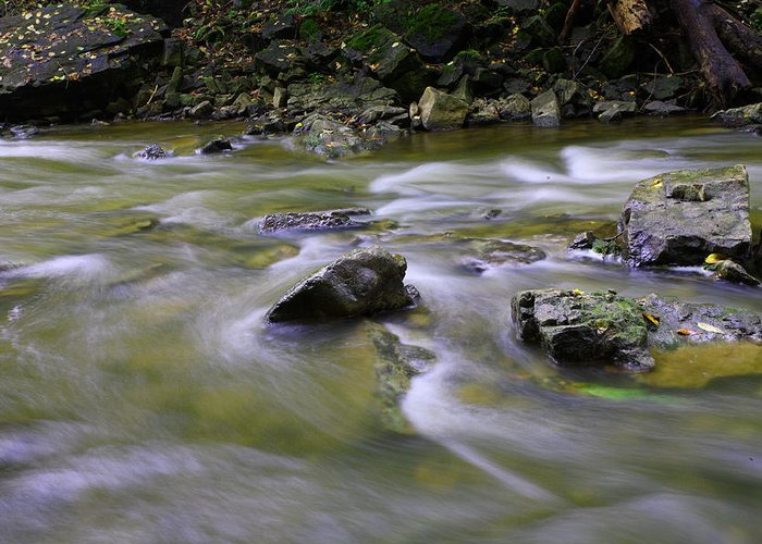 Water Greeting Card featuring the photograph Flowing Water 2 by Mark Platt