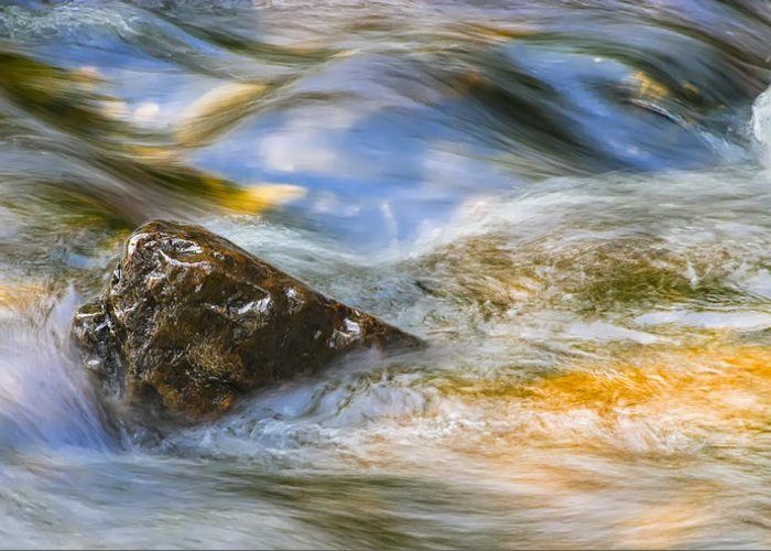 3scape Photos Greeting Card featuring the photograph Flowing Water by Adam Romanowicz