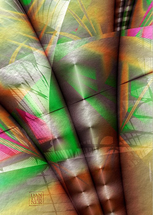 Flutes Of Osiris Greeting Card featuring the digital art Flutes Of Osiris by Dan Turner