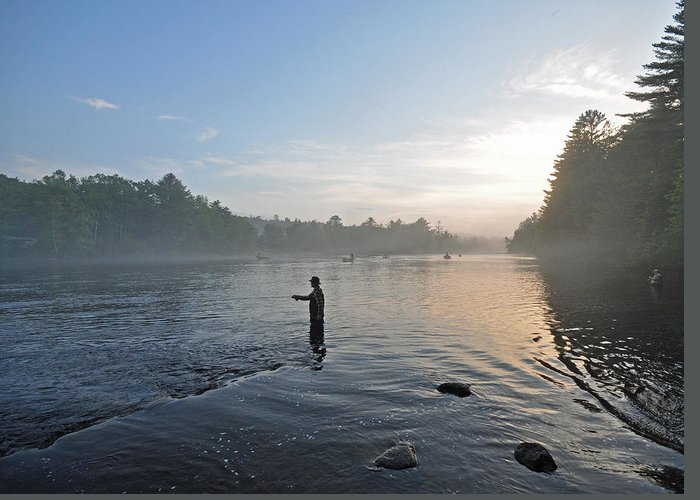 Fly Fishing Greeting Card featuring the photograph Fly Fishing 2 by Glenn Gordon