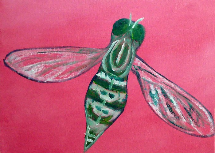Flies Greeting Card featuring the painting Fly North by Scott Plaster