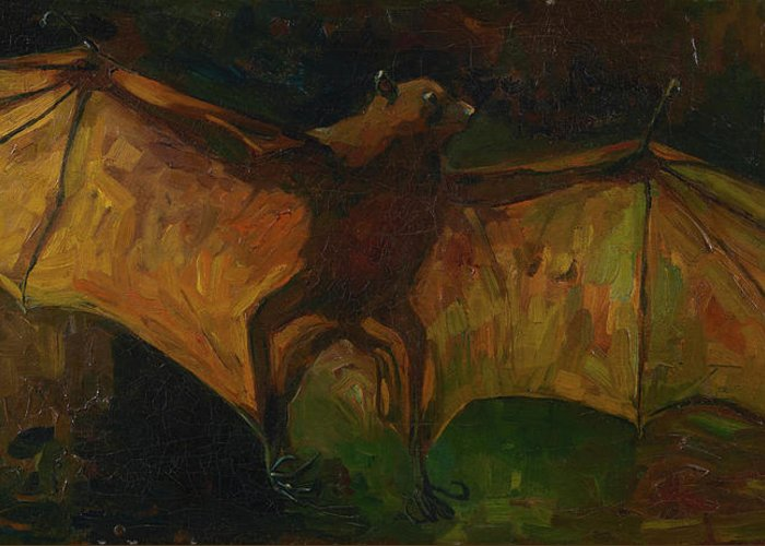 Vincent Van Gogh Greeting Card featuring the painting Flying Fox by Vincent van Gogh