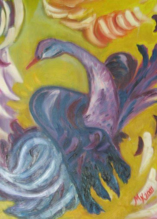 Maria Kolucheva Greeting Card featuring the painting Flying by Maria Kolucheva
