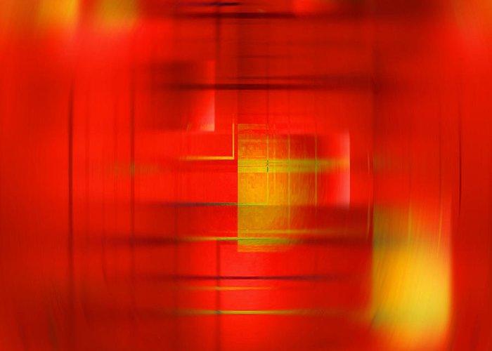 Abstract Greeting Card featuring the digital art Focus by John Krakora