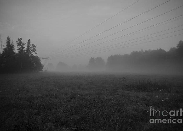 Foggy Greeting Card featuring the photograph Fog by Tino Lehmann