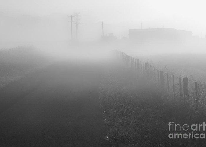 Foggy Greeting Card featuring the photograph Foggy Morning At A Countryside by Hideaki Sakurai