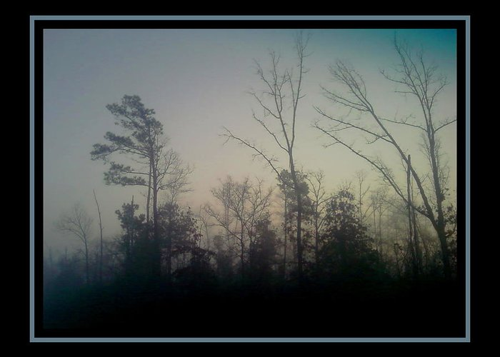 Fog Greeting Card featuring the photograph Foggy Morning by Sherry Holder Hunt