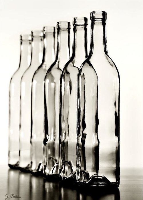Bottle Greeting Card featuring the photograph Follow The Leader No. 2 by Joe Bonita