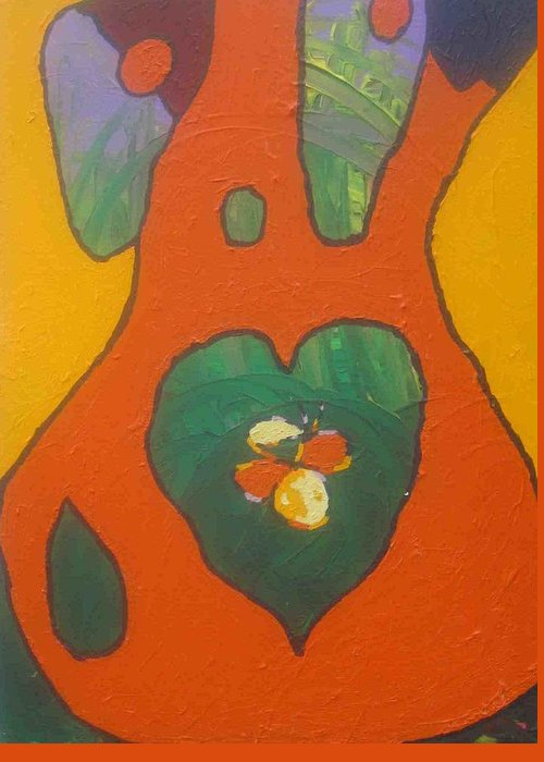 Red Greeting Card featuring the photograph Follow Your Heart by AJ Brown