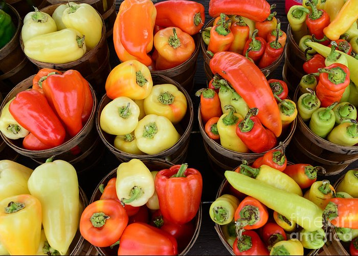 Food - Farm Fresh - Peppers Greeting Card featuring the photograph Food - Peppers by Paul Ward