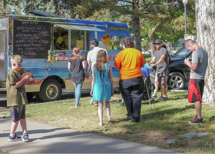 Food Trucks Greeting Card featuring the photograph Food Truck by Billy Joe