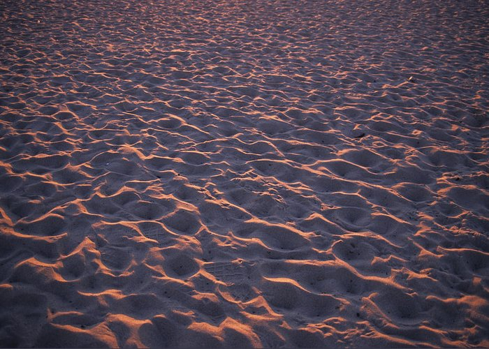 Ventura Greeting Card featuring the photograph Footprints In The Sand by Stacy Gold